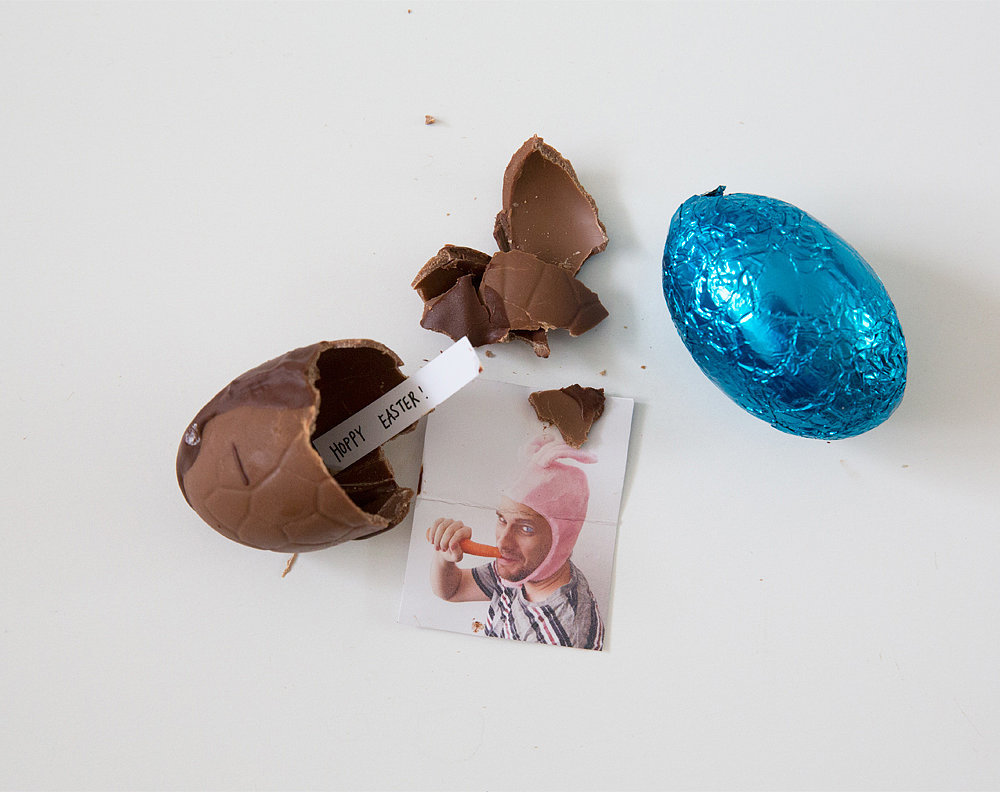 You better believe I'm making these Photo Surprise Chocolate Eggs for Easter, from The Paper Mama.