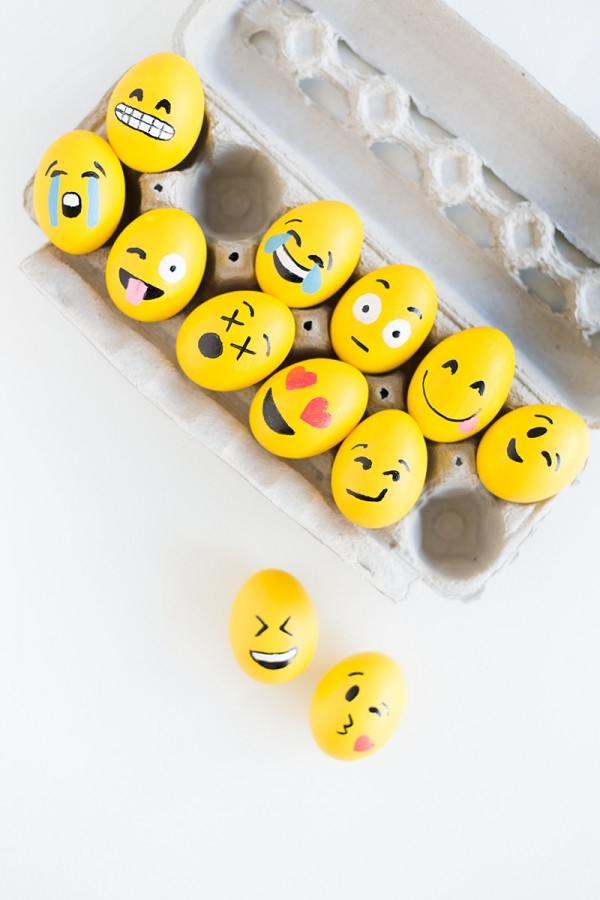 These emoji Easter eggs crack me up, from Studio DIY.