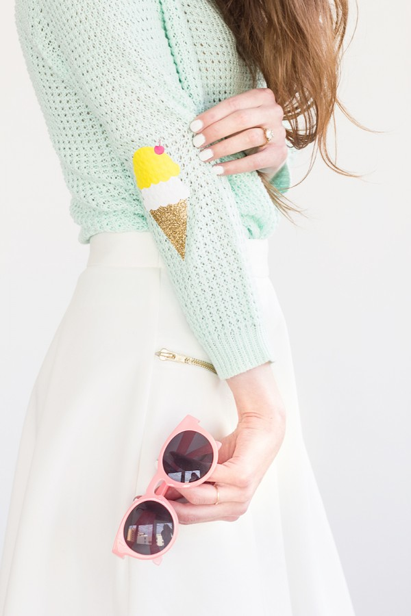 http://www.studiodiy.com/2014/07/09/diy-ice-cream-cone-elbow-patches/