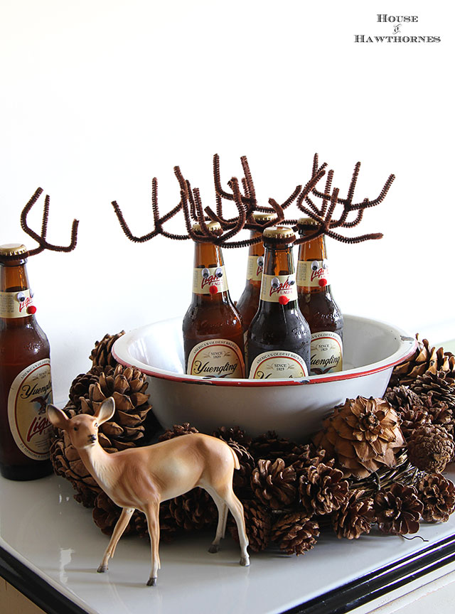Are you buying for a beer lover? Stick with the beer, but make those bottles more festive with some antlers and googly eyes, from House of Hawthornes.