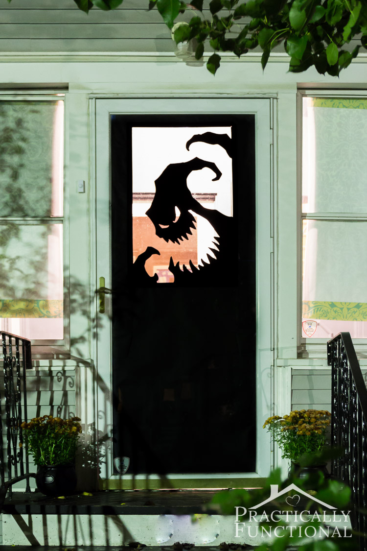 Nightmare Before Christmas is one of my favorite Fall movies, and now I need this door decoration! Found on Practically Functional.