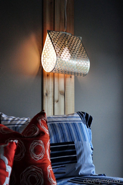 This light would be so easy to make, made from a decorative metal sheet. Found on Cleverly Inspired.