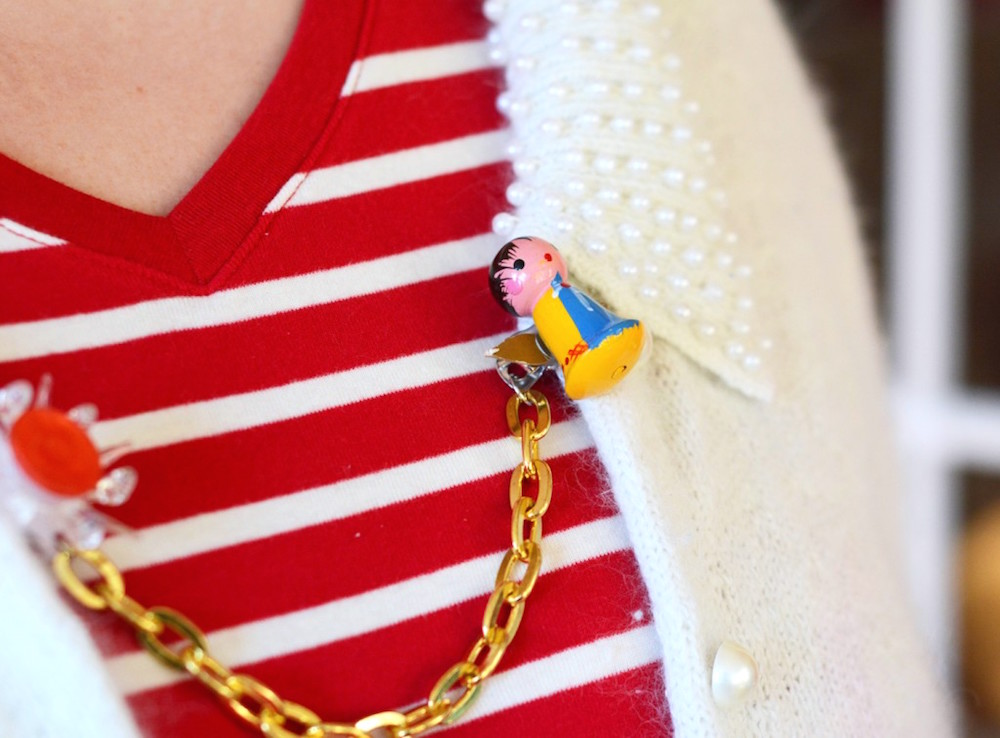 Day 40 Christmas Jewelry: Vintage DIY Christmas Sweaters