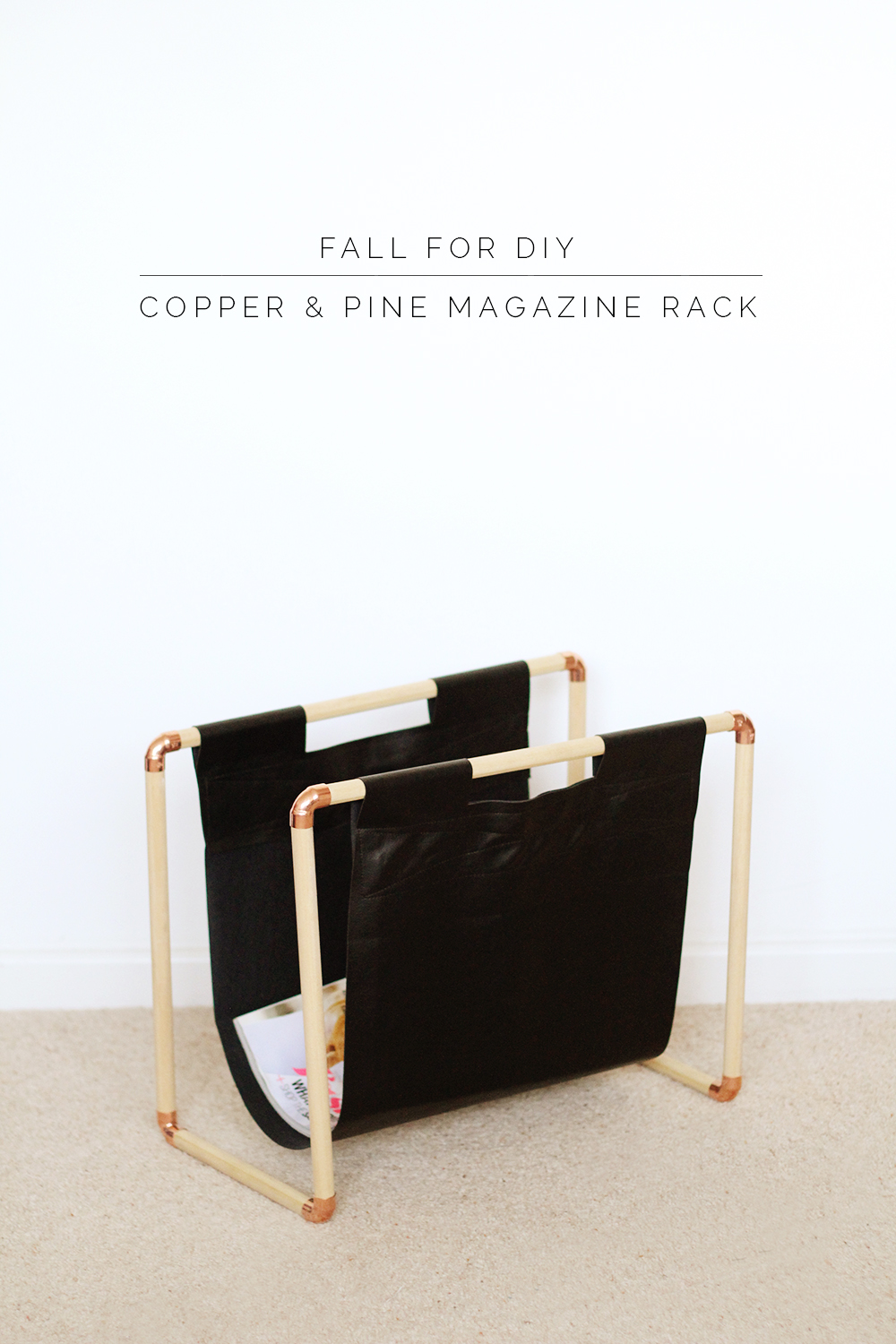 This DIY magazine rack is the perfect spot to put all my Better Homes and Gardens magazines, from Fall For DIY.