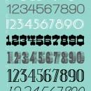 Favorite Free Number Fonts // thepapermama.com