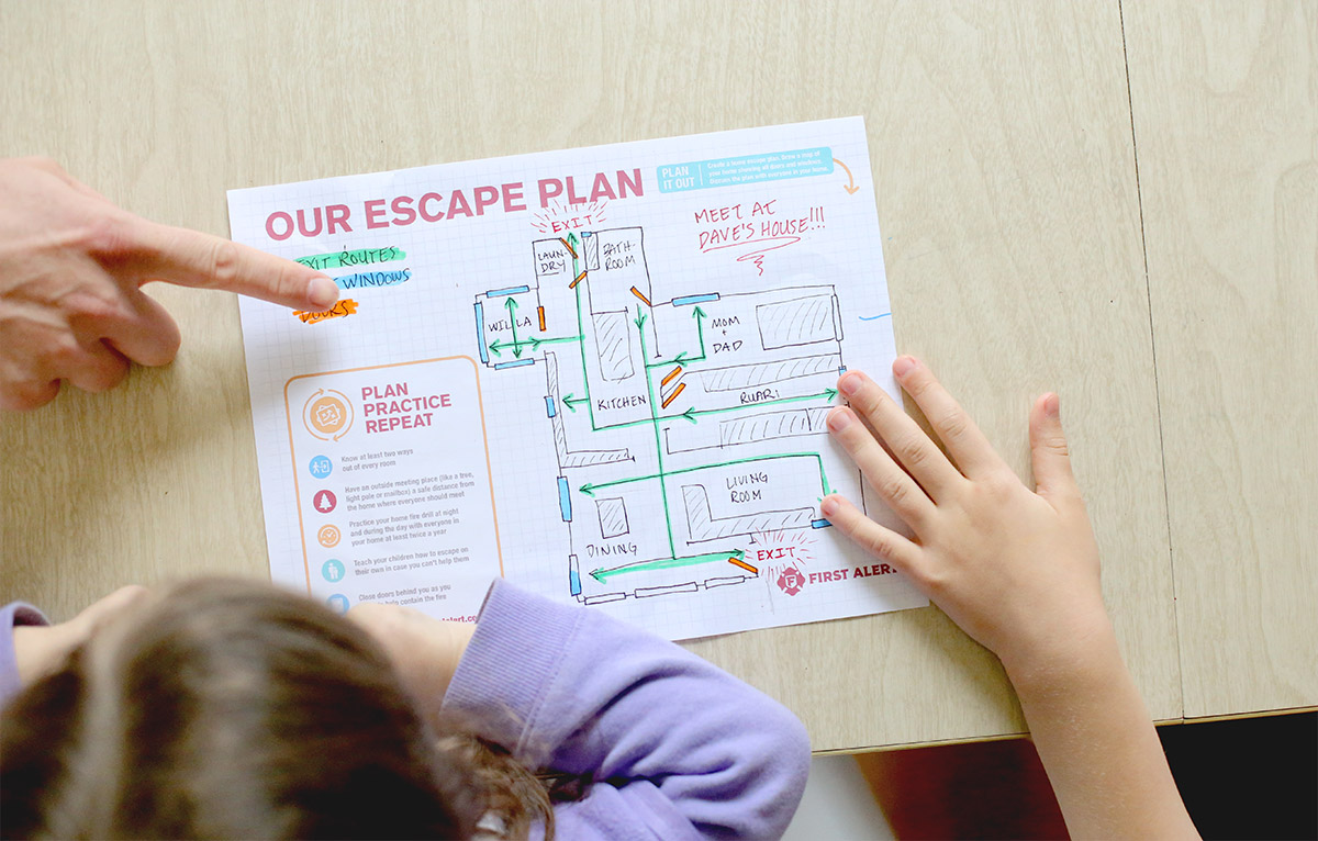 How To Make a Home Fire Escape Plan with First Alert