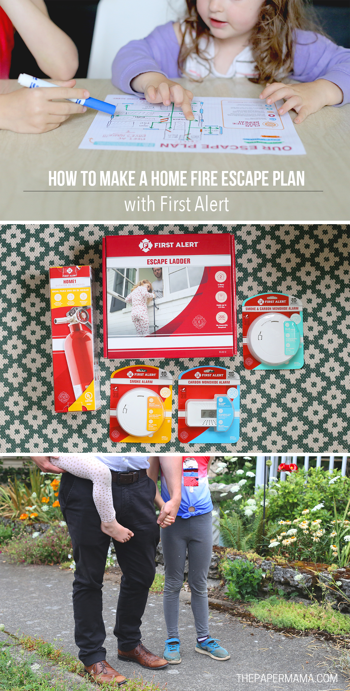 Home Fire Escape Plan Collage