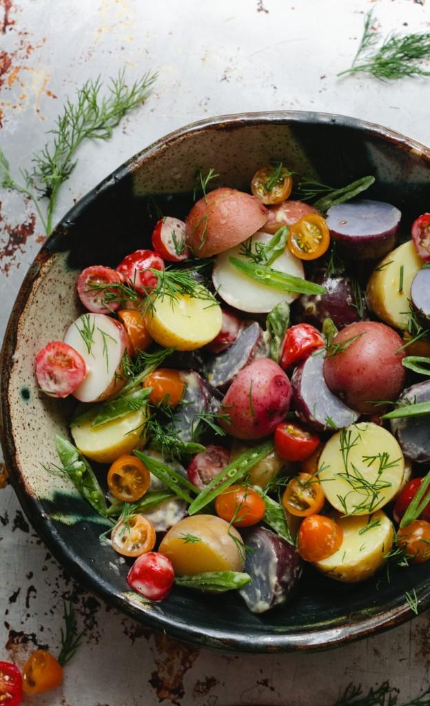 Horseradish Potato Salad with Dill