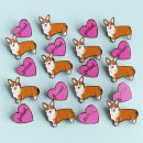 Corgi and Portland Pins. Illustrations by, Chelsey Andrews (the paper mama shop on Etsy)