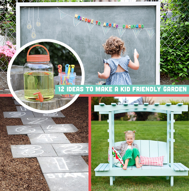 12 ideas to make a kid friendly garden for Children friendly garden designs