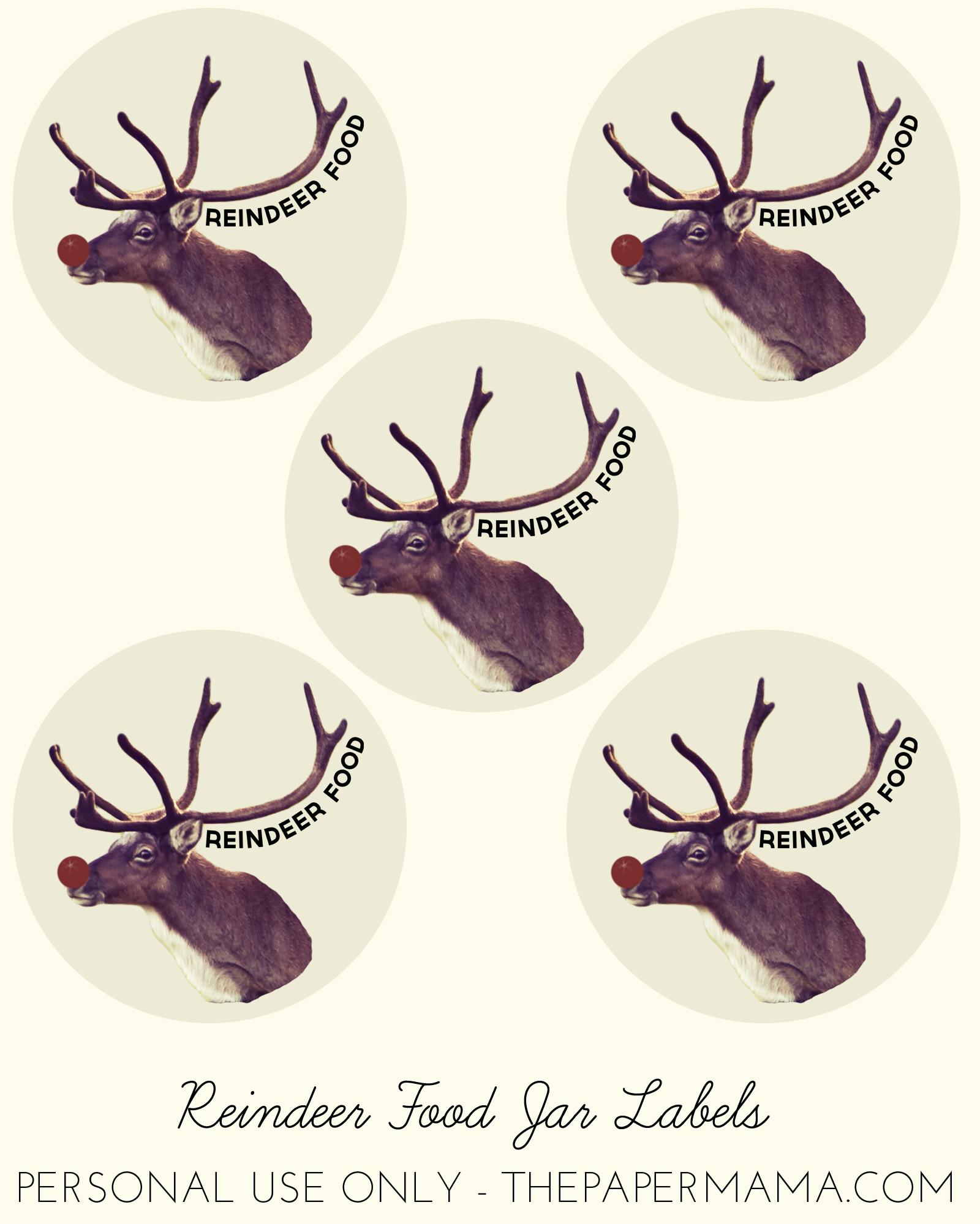 Free Reindeer Food Printable Tags | New Calendar Template Site