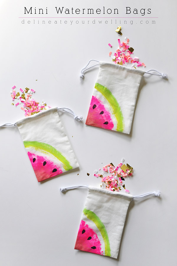 Craft these sweet watermelon gift bags for summer party giftbags, or just for fun! Found on Delineate Your Dwelling.