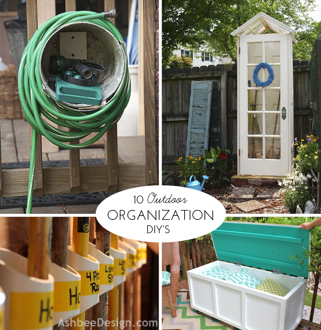 10 Outdoor Organization DIY