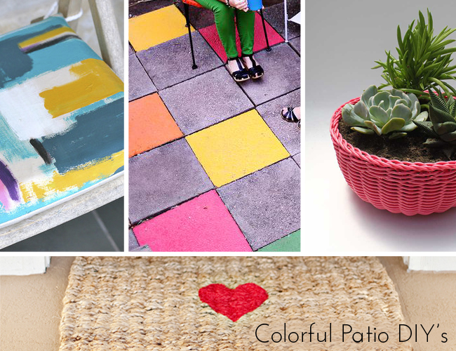 Colorful Patio DIY's