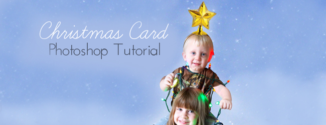 Day 17 of 50 DIY Days of Christmas: Christmas Card Photoshop Tutorial // thepapermama.com