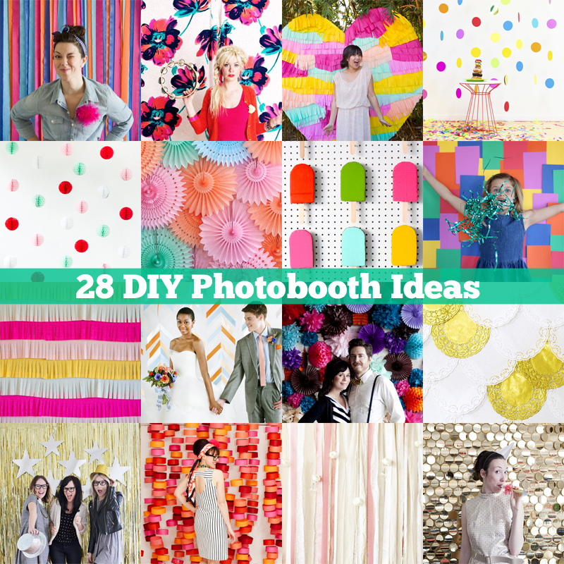 photo booth background ideas for spring - DIY ify 28 DIY booth Ideas