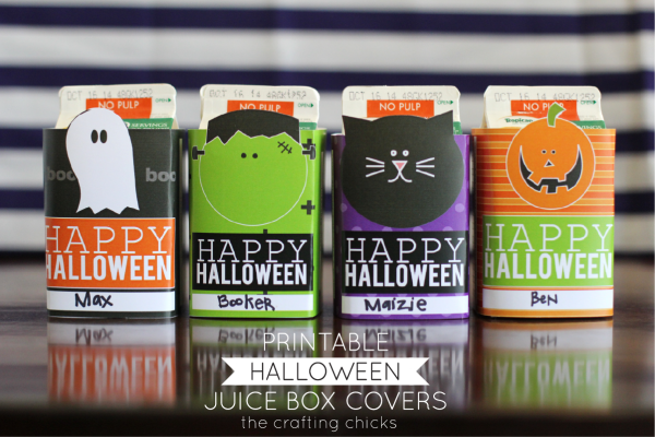 Makeover your juiceboxes with these free Halloween printables, from The Crafting Chicks.