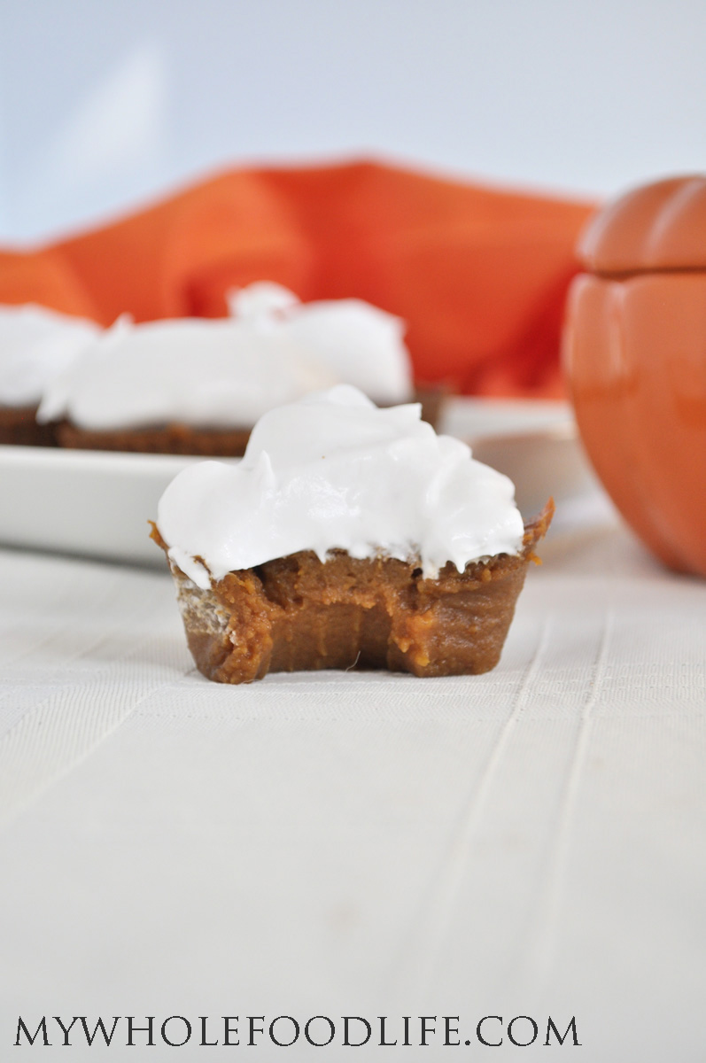 Can't eat flour or grains? Try this Paleo Pumpkin Pie Cupcake recipe, from My Whole Food Life.