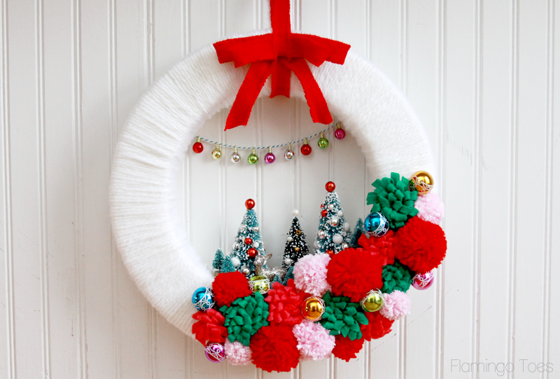 A vintage style wreath would fit in at my home, from Flamingo Toes.