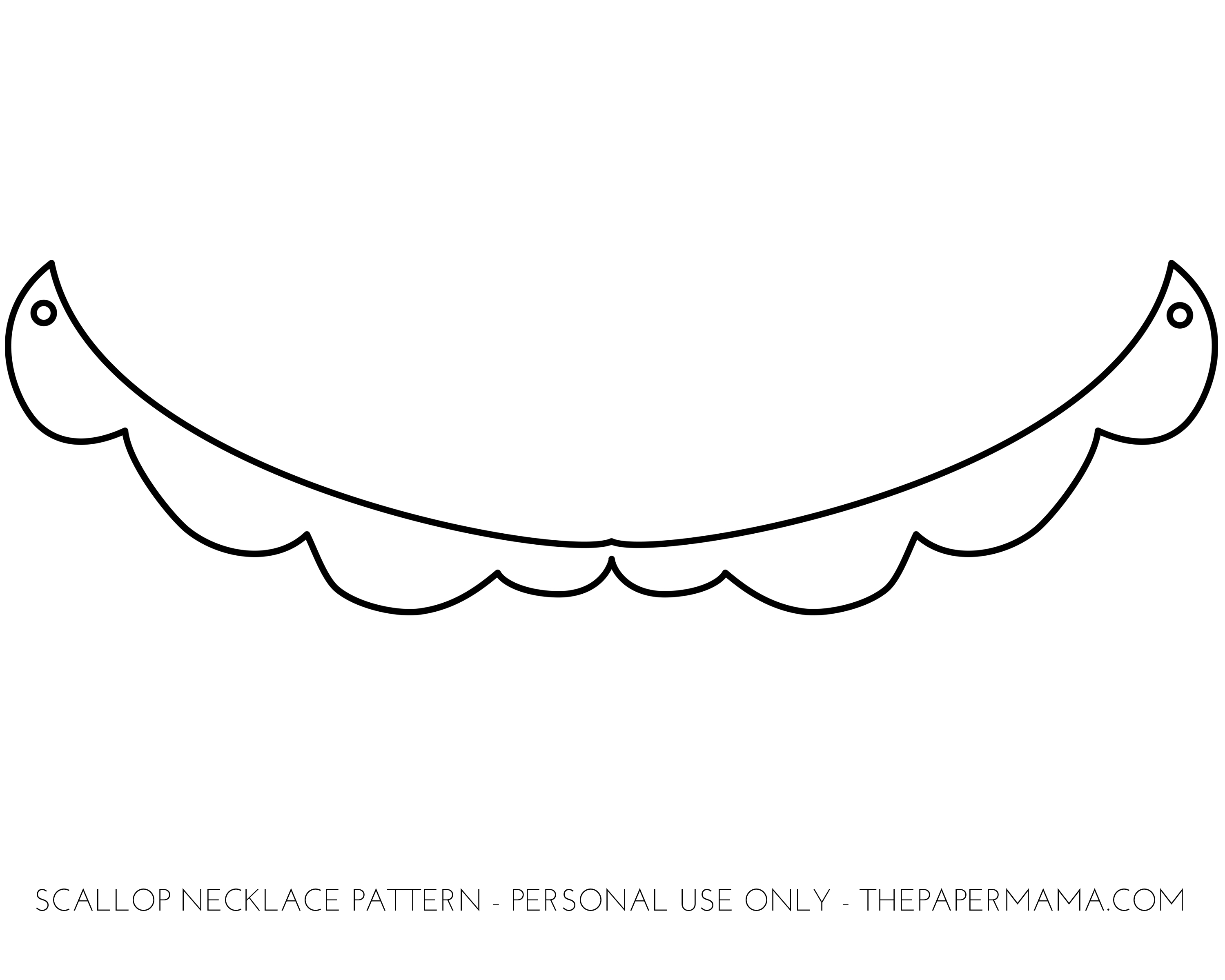 Scallop shell outline