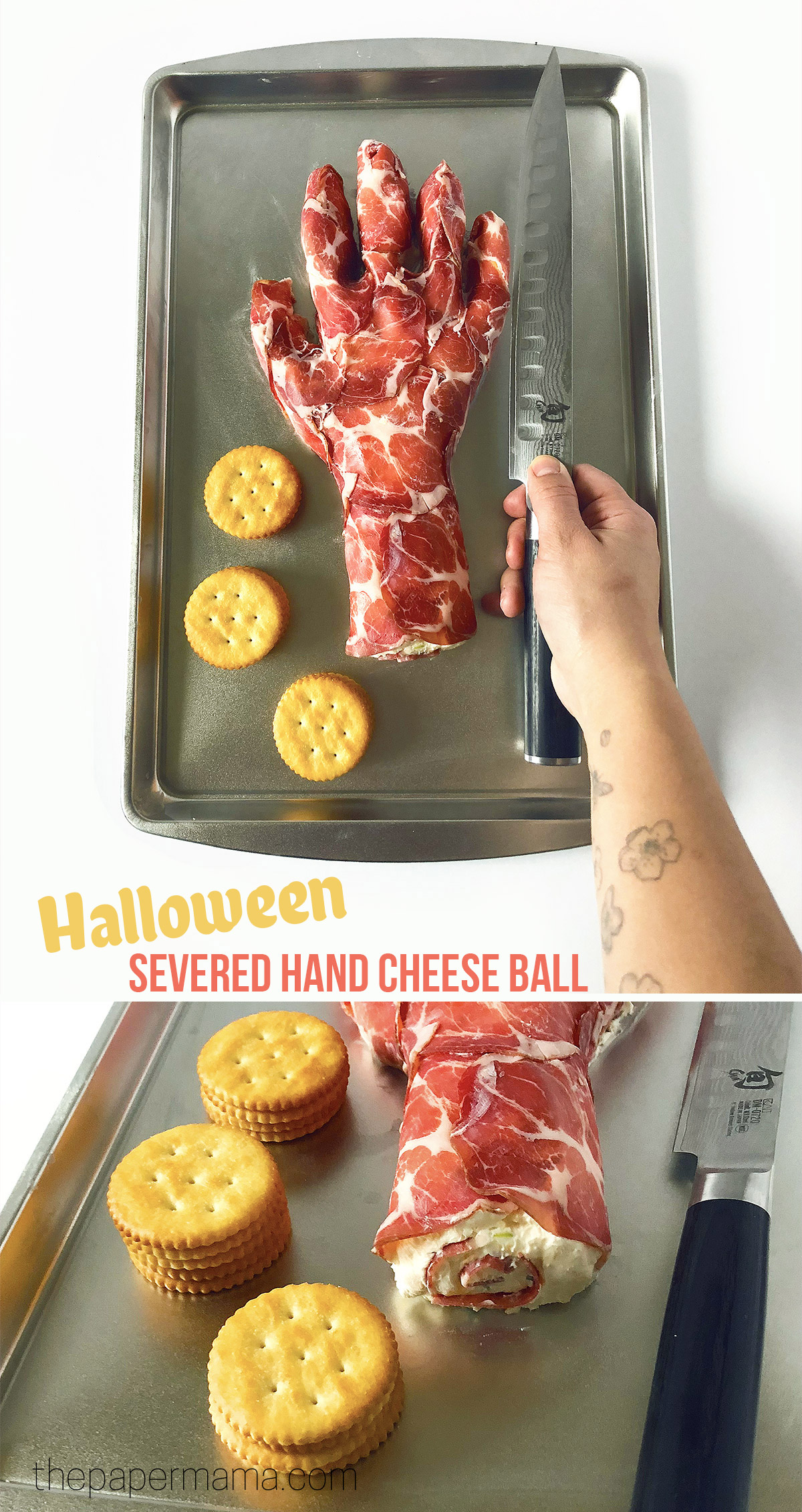 Halloween Hand Cheese Ball Recipe