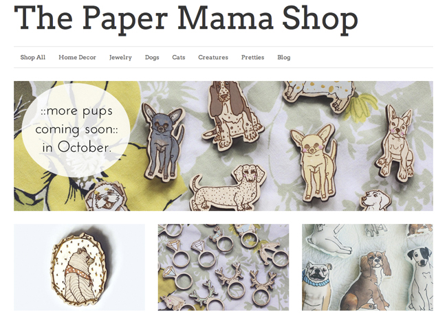 Shop update // thepapermama.com