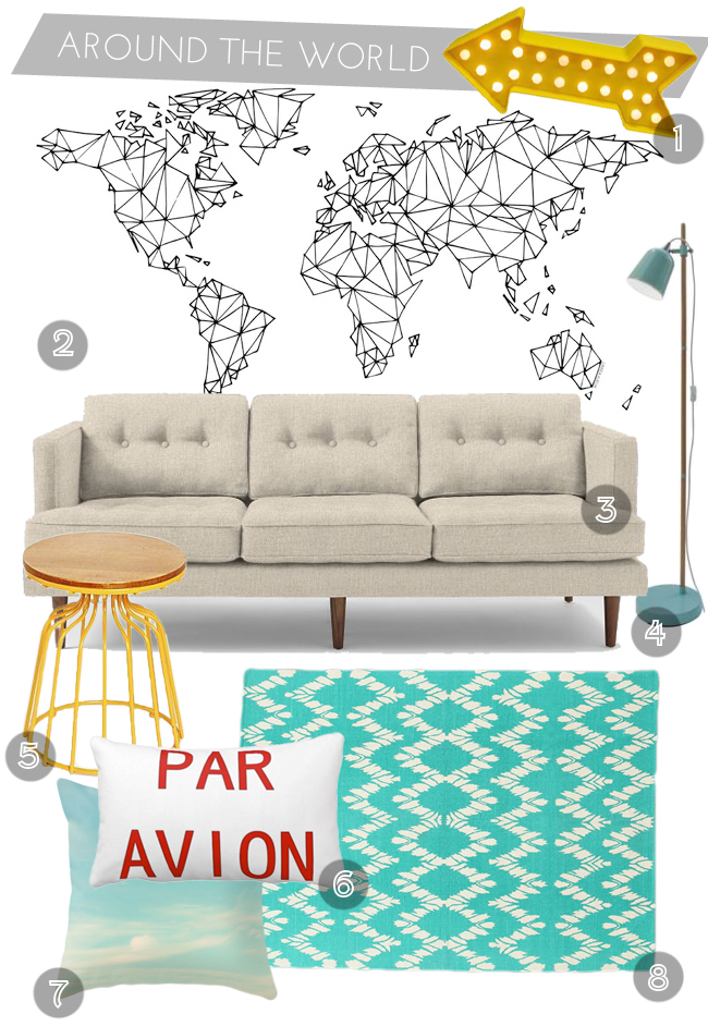 Around The World Living Room Decor Inspiration // thepapermama.com