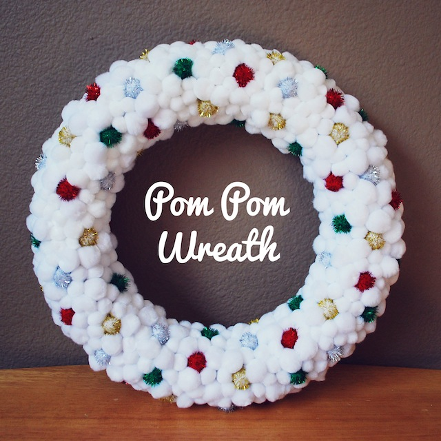 I love pom pom wreaths, and this one is a favorite of mine, on The Paper Mama.