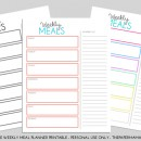 Free Weekly Meal Planner Printable