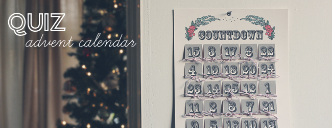 Day 32 of 50 DIY Days of Christmas: Quiz Advent Calendar // thepapermama.com