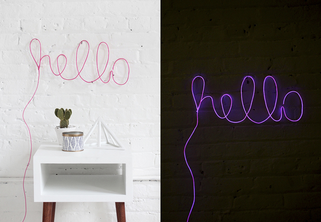This DIY Neon Letter Light is amazing! Found on I Spy DIY.