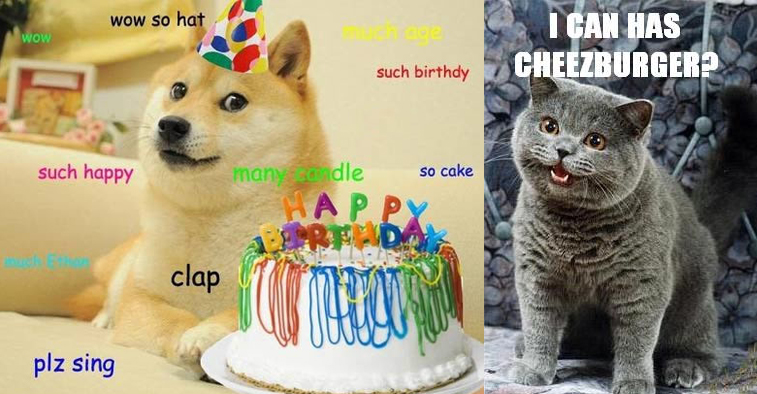 Doge Birthday Cake Meme and I Can Has Cheezburger Meme