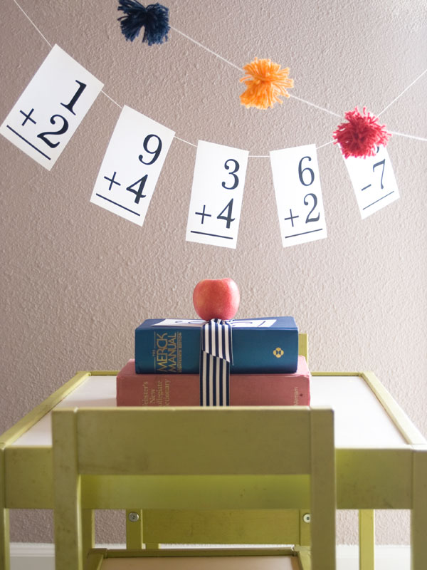 http://www.confettisunshineblog.com/2012/08/back-to-school-decorations.html