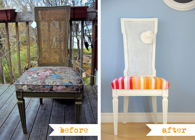 http://fun.kyti.me/index.php/2011/06/cane-chair-makeover/