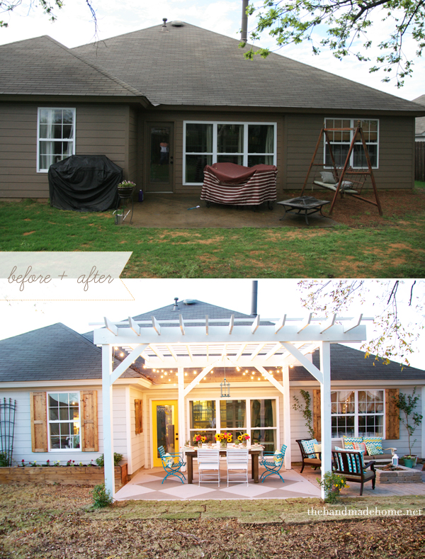 You have to check out the whole outdoor makeover here, from The Handmade Home.