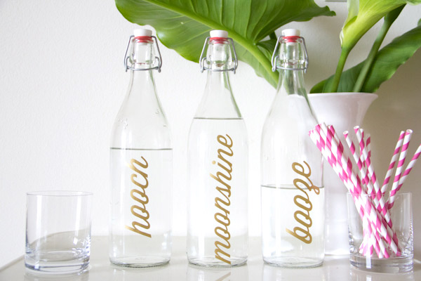 Bar Bottle Labels // Lovely Indeed