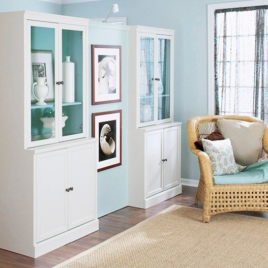 Does your entryway open right into the living room? Create this nifty room divider to separate the rooms and add storage, from Better Homes and Gardens.