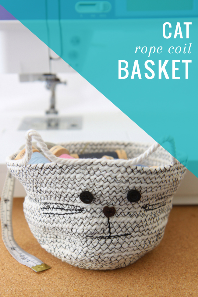 Okay. I need to make this Kitty Rope Coil Basket for myself, from Hello Natural.