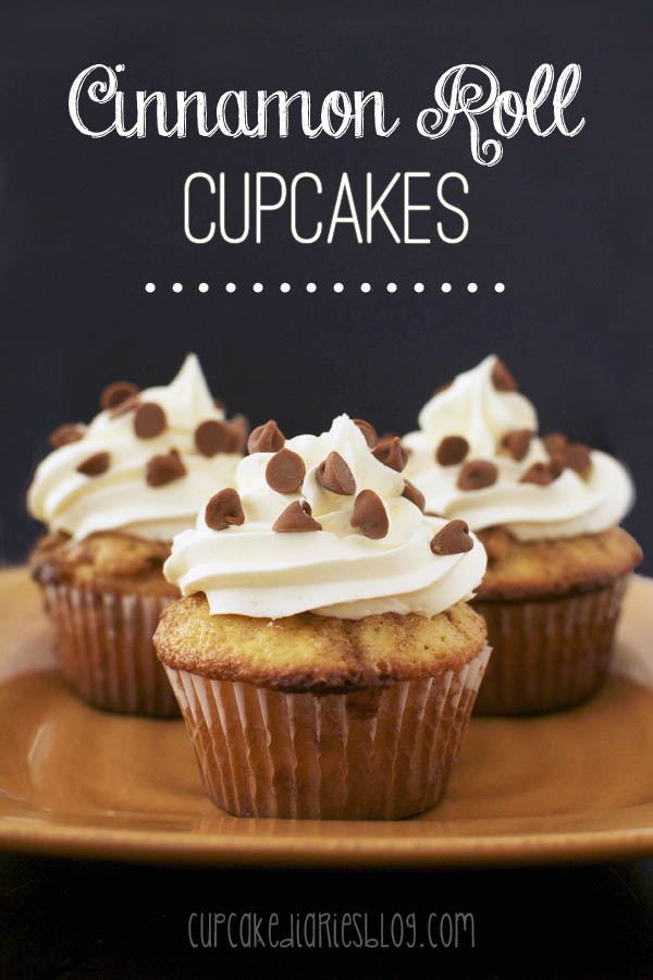 All I need to say: Cinnamon Roll Cupcakes, from Cupcake Diaries.