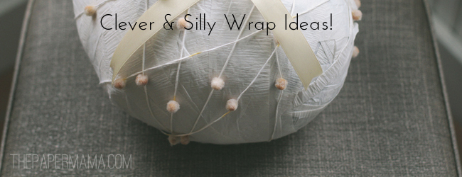 Day 37 of 50 DIY Days of Christmas: Clever & Silly Wrap Ideas // thepapermama.com