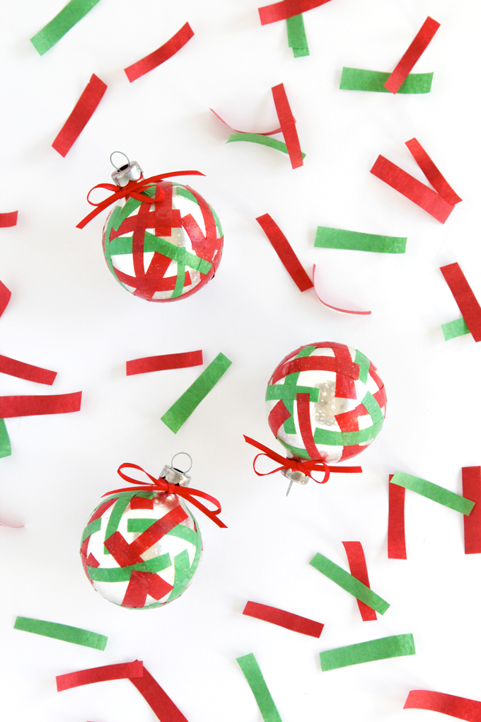 Simple Confetti DIY Christmas Ornament