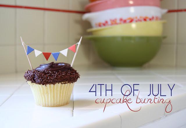cupcake topper bunting