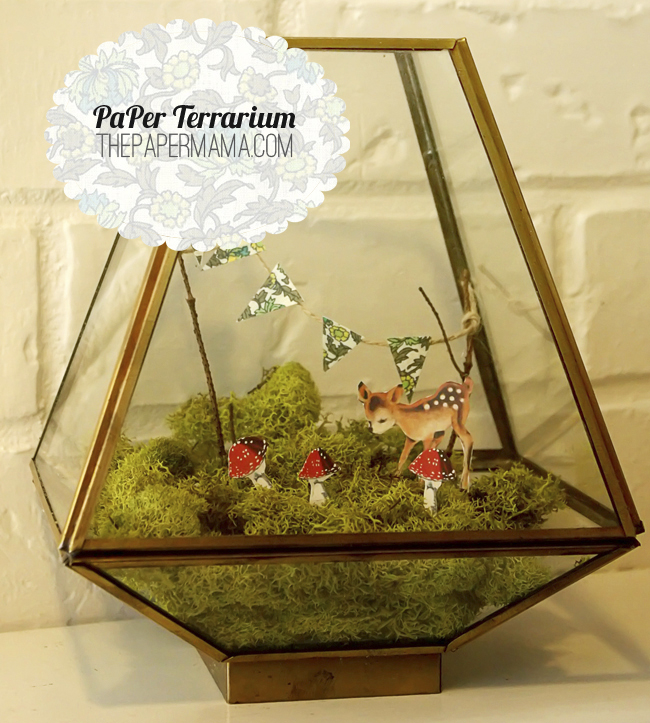 Over The Rainbow Paper Terrarium With Printables