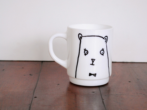 This bear mug makes me smile, via Design Sponge.
