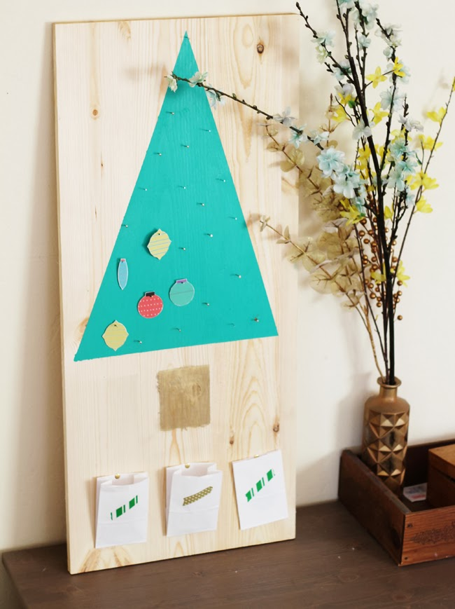 Mod Wood Advent Calendar DIY