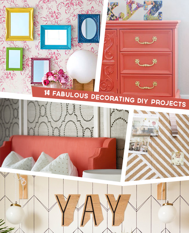 14 Fabulous Decorating DIY Projects! // thepapermama.com