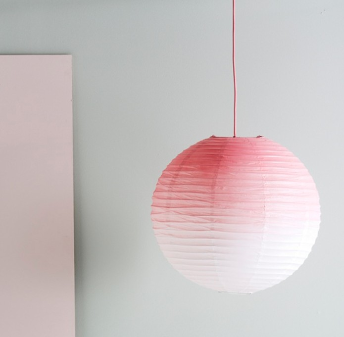 If you'd prefer an easier paper lantern DIY, this ombré hanging lantern is perfect! Found on Remodelista.