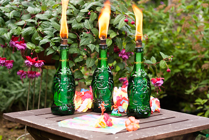 Lucky Tiki Torches, from Adventures in Making.