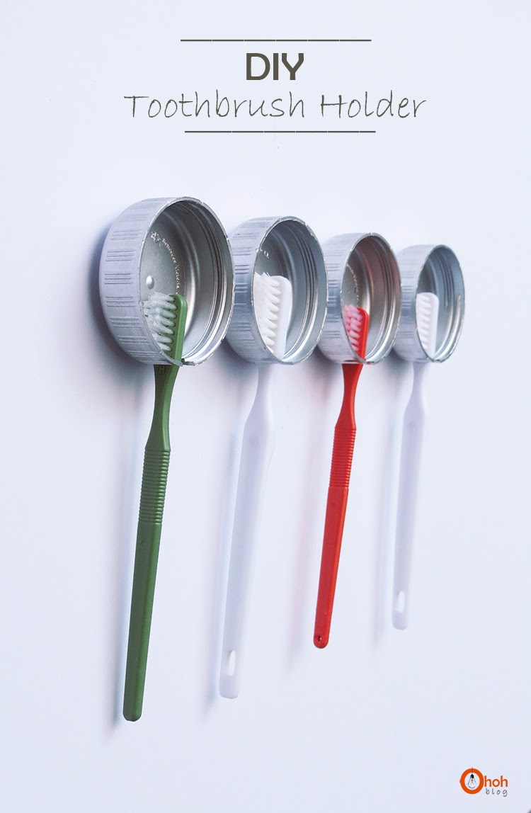 I love this clever toothbrush storage idea. Found on Oh Oh Blog.