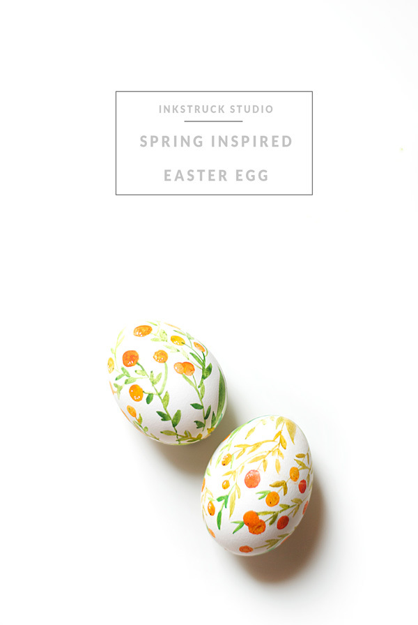 This Watercolor Easter Egg DIY is so lovely, from Inkstruck Studio.